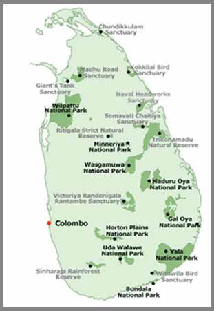 Wasgamuwa National Park Map Welcome to the ...
